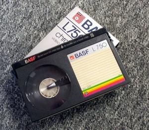 ベータ形式のビデオテープ
